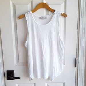 Loft Sleeveless Tank with Design on Bottom Back M